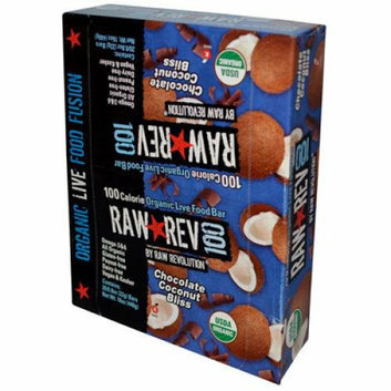 Raw Revolution Bar Organic Chocolate and Coconut Case of 20 .8 oz
