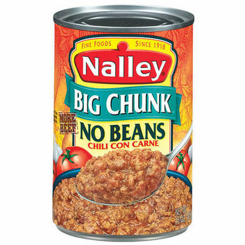 Nalley Big Chunk Chili Con Carne With No Beans