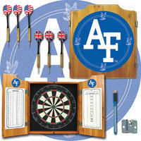 Trademark Commerce Trademark Air Force Dart Cabinet - !ncludes Darts and Board