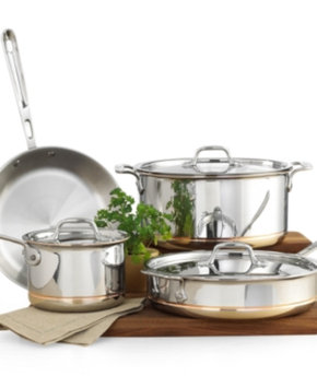 All Clad ALL CLAD 7 Piece Stainless Steel Cookware Copper Core