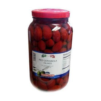 Red Cerignola Olives, 4.2 lbs JAR