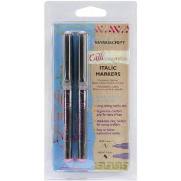 Manuscript Pen CalliCreative Markers 2/Pkg-Pink