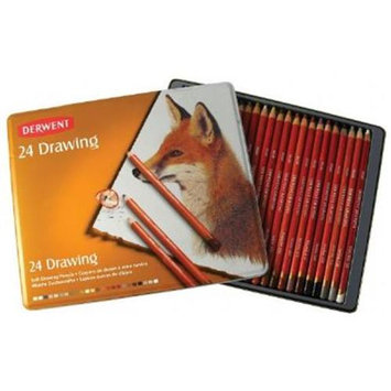 Derwent 0700672 Drawing Pencil 24-Color Tin Set