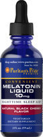 Puritan's Pride Melatonin Black Cherry Liquid 10 mg-2 oz Liquid