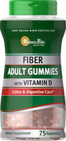 Puritan's Pride 2 Units of Adult Fiber Gummies with Vitamin D-75-Gummies