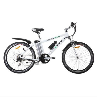 Cyclamatic Bicycle Electric Foldaway Bike with Lithium-Ion Battery - White