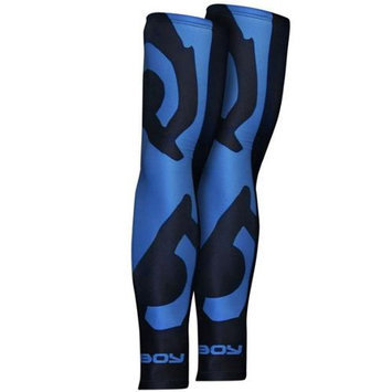 Bad Boy Eyes Rash Sleeves - S/M - Black/Blue