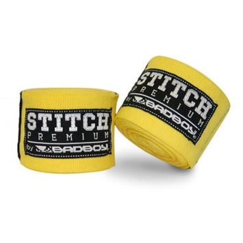 Bad Boy 5M Stitch Premium Handwraps - Yellow