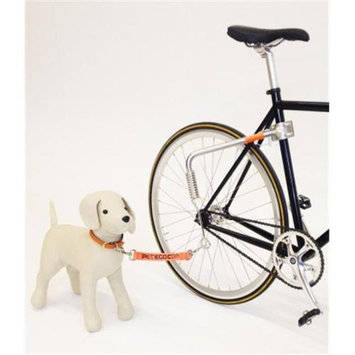 PetEgo Springlead Universal Bicycle Leash, Silver