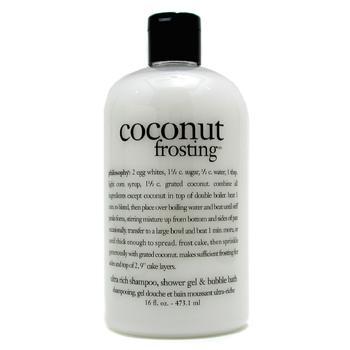 Philosophy Coconut Frosting - Ultra Rich Shampoo Shower Gel & Bubble Bath 473.1ml/16oz
