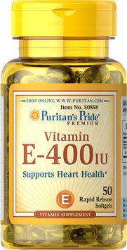 Puritan's Pride 2 Units of Vitamin E-400 IU with Selenium 50 mcg-50-Softgels
