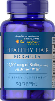 Puritan's Pride 2 Units of Healthy Hair Formula with Biotin 10,000 mcg-90-Capsules