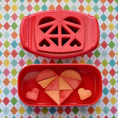 FunBites Heart Food Cutter, Red, 1 ea