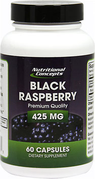 Nutritional Concepts Black Raspberry - 425 mg - 60 Capsules