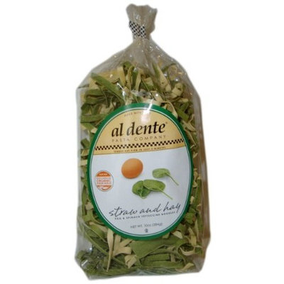 Al Dente Straw and Hay, Spinach and Egg Fettuccine, 10-Ounce (Pack of 6)