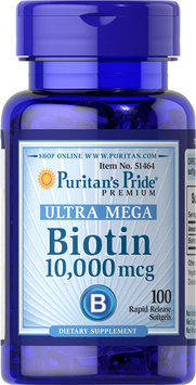 Puritan's Pride Biotin 10,000 mcg-100-Softgels