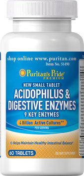 Puritan's Pride 2 Units of Acidophilus & Digestive Enzymes-60-Tablets