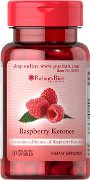 Puritan's Pride Raspberry Ketones 100 mg-30-Rapid Release Capsules