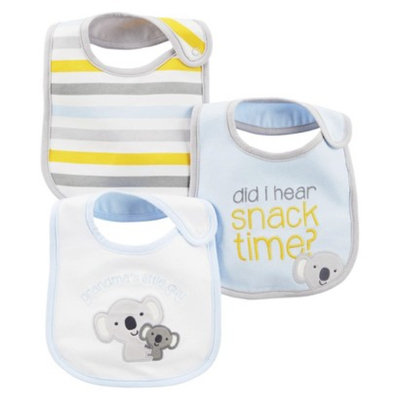 Just One You Made by Carter's Just One YouMade by Carter's Newborn Boys' 3 Pack Koala Bib Set -
