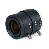Monoprice 1/3 Inch 3-9mm IR F1.2 Varifocal Manual Iris CS Mount Lens W/IR Correction