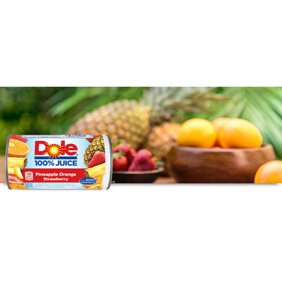 Dole 100% Pineapple Orange Strawberry Juice