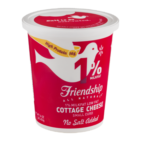 Fabulous Friendship 1 Milkfat Cottage Cheese Small Curd No Salt Added Home Interior And Landscaping Fragforummapetitesourisinfo