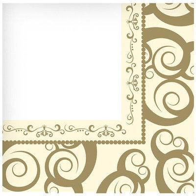 Hanna K Signature Hanna K. Signature 90024 Gold Medley Lunch Napkin Everyday Ensembles - 1440 Per Case