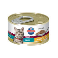 Hill's Science Diet Adult Indoor Minced Chicken Entree Canned Cat Food 24/3-oz cans