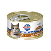 Hill's Science Diet Mature Adult 7+ Minced Gourmet Turkey Entree Canned Cat Food 24-3oz cans