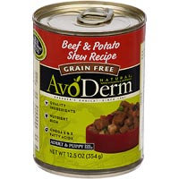 AvoDerm Grain Free Beef & Potato Stew Recipe Canned Dog Food
