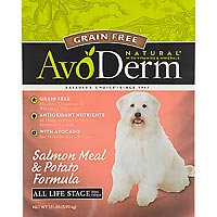 AvoDerm Grain Free Salmon Dry Dog Food 24lb