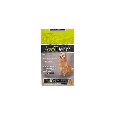 AvoDerm Natural Senior Chicken Meal and Brown Rice Formula Dry Dog