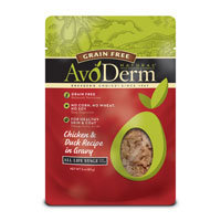 AvoDerm Natural Grain Free Chicken & Duck Cat Food Pouches, 3 oz.