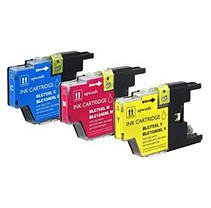 Brother International Brother LC75 Cyan, Magenta, Yellow Compatible Ink Cartridges (3 Pack)