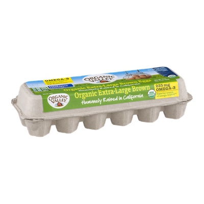 Organic Valley Organic Extra-Large Brown Eggs Grade A - 12 CT