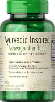 Puritan's Pride Ashwagandha Root Extract 750mg Ayurvedic Inspired-90 Vegi Caps