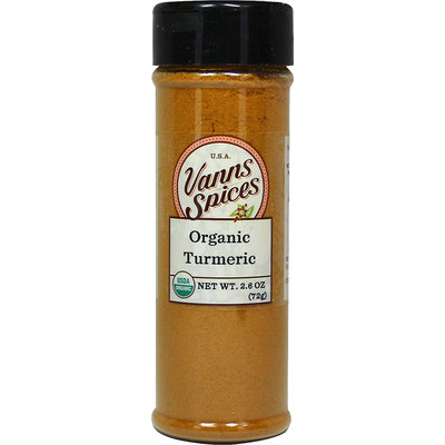 Vanns Organic Ground Turmeric-2.6 oz Bottle
