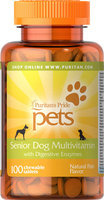 Puritan's Pride Senior Dog Multivitamin-100 Chewables