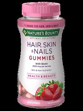 Nature's Bounty® Optimal Solutions® Hair, Skin & Nails Gummies