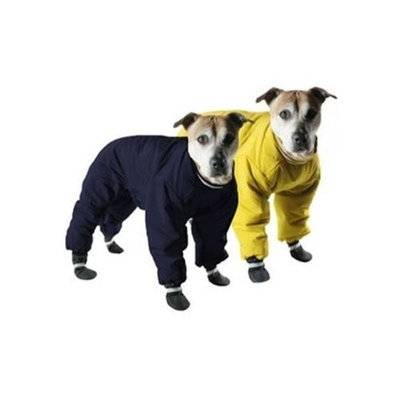 Muttluks 4-Legged Nylon Reversible Dog Snow Suit, Size 12, Yellow/Black