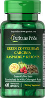 Puritan's Pride Garcinia, Green Coffee Bean & Raspberry Ketones-60 Capsules