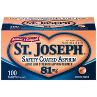St. Joseph Aspirin Safety Coated Tablets, 81 mg, 100-count Bottles (Pack of 3)