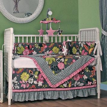 Hoohobbers Sleek Slate 4 Piece Crib Bedding Set