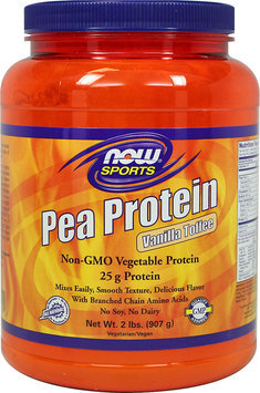 NOW Foods Pea Protein Vanilla Toffee-2 lbs Powder