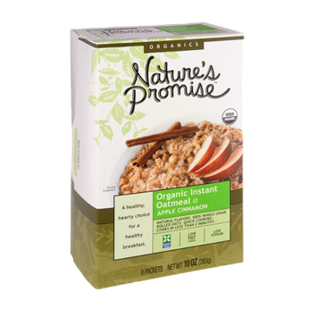 Nature's Promise Organics Organic Instant Oatmeal Apple Cinnamon - 8 ct