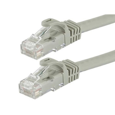 Monoprice 1FT FLEXboot Series 24AWG Cat5e 350MHz UTP Bare Copper Ethernet Network Cable - Gray