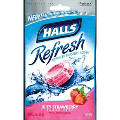 HALLS Refresh Sugar Free Juicy Strawberry Candy
