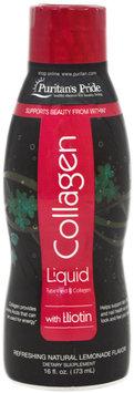 Puritan's Pride Liquid Collagen Types 1 and 3 with Biotin Lemonade Flavor-16 oz Bottle