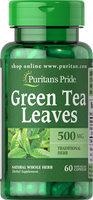 Puritan's Pride Green Tea Leaves 500 mg-60 Capsules