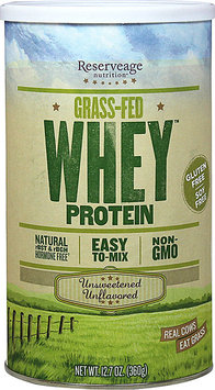 Reserveage Organics GrassFed Whey Protein Unsweetened Unflavored